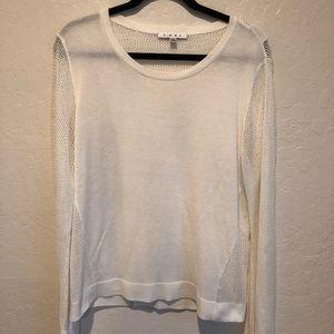CAbi split back pull over sweater size L